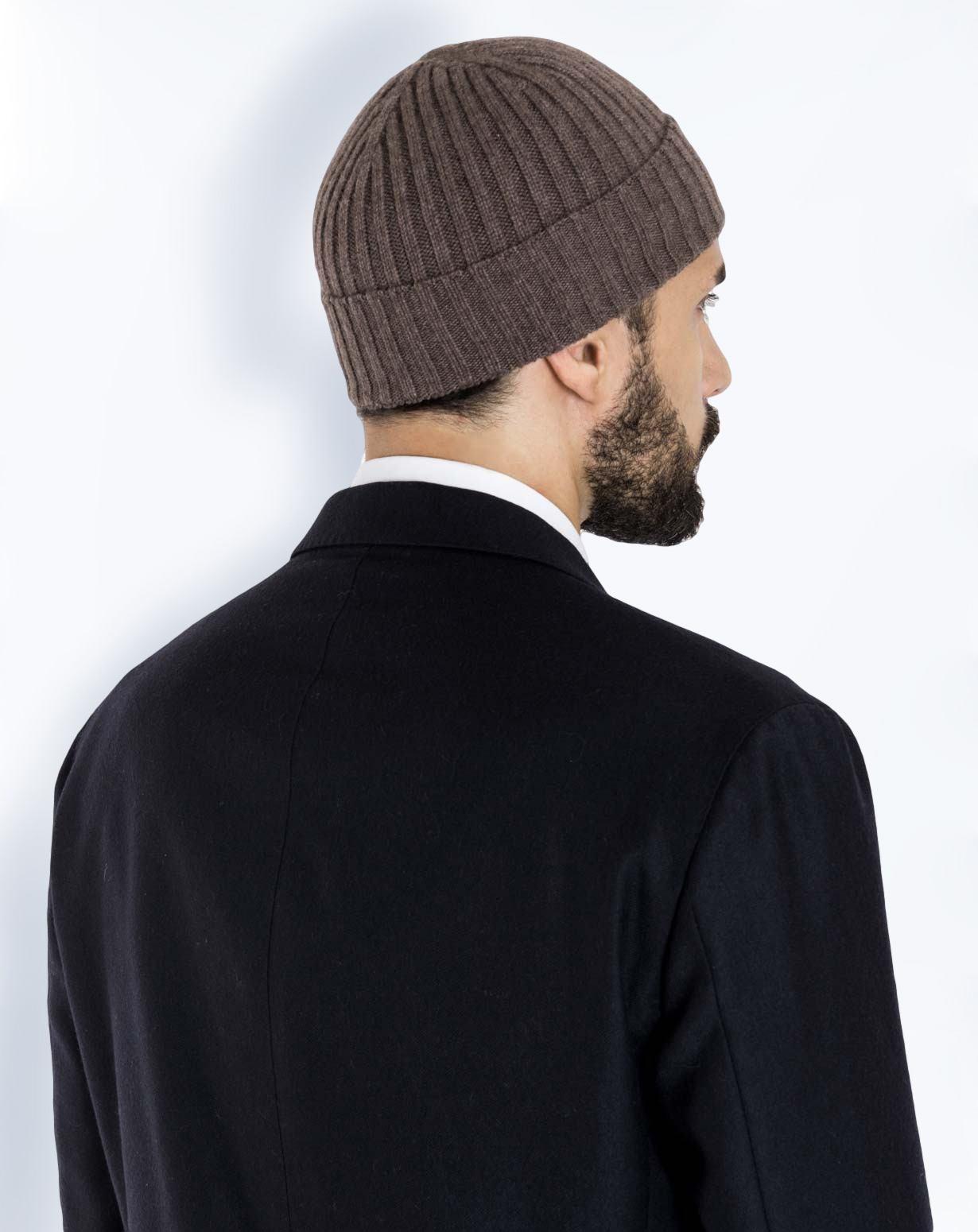 Cappello Lana a Coste in Puro Cashmere  d79078805d3e