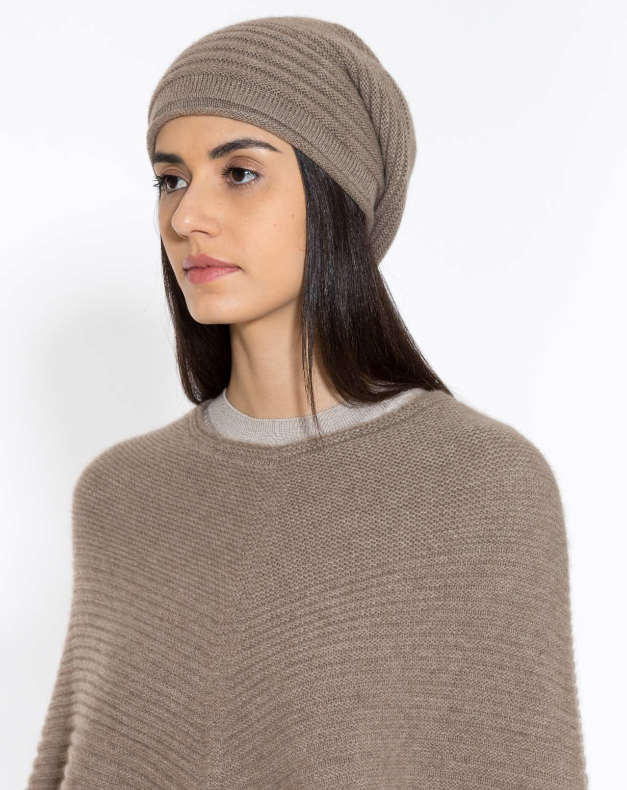 Basco a Coste Donna in Cashmere  41db3ade7ef4