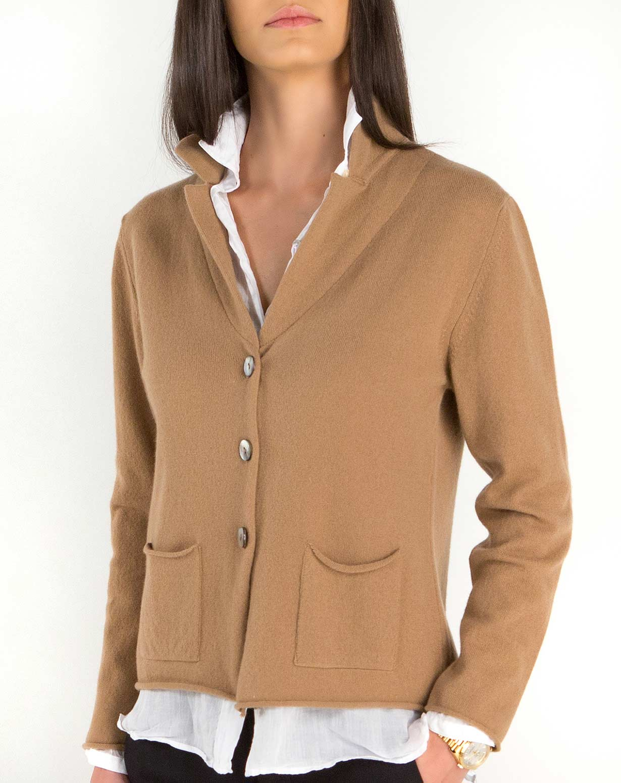 Women's Lambswool & Cashmere Knit Blazer | MaisonCashmere