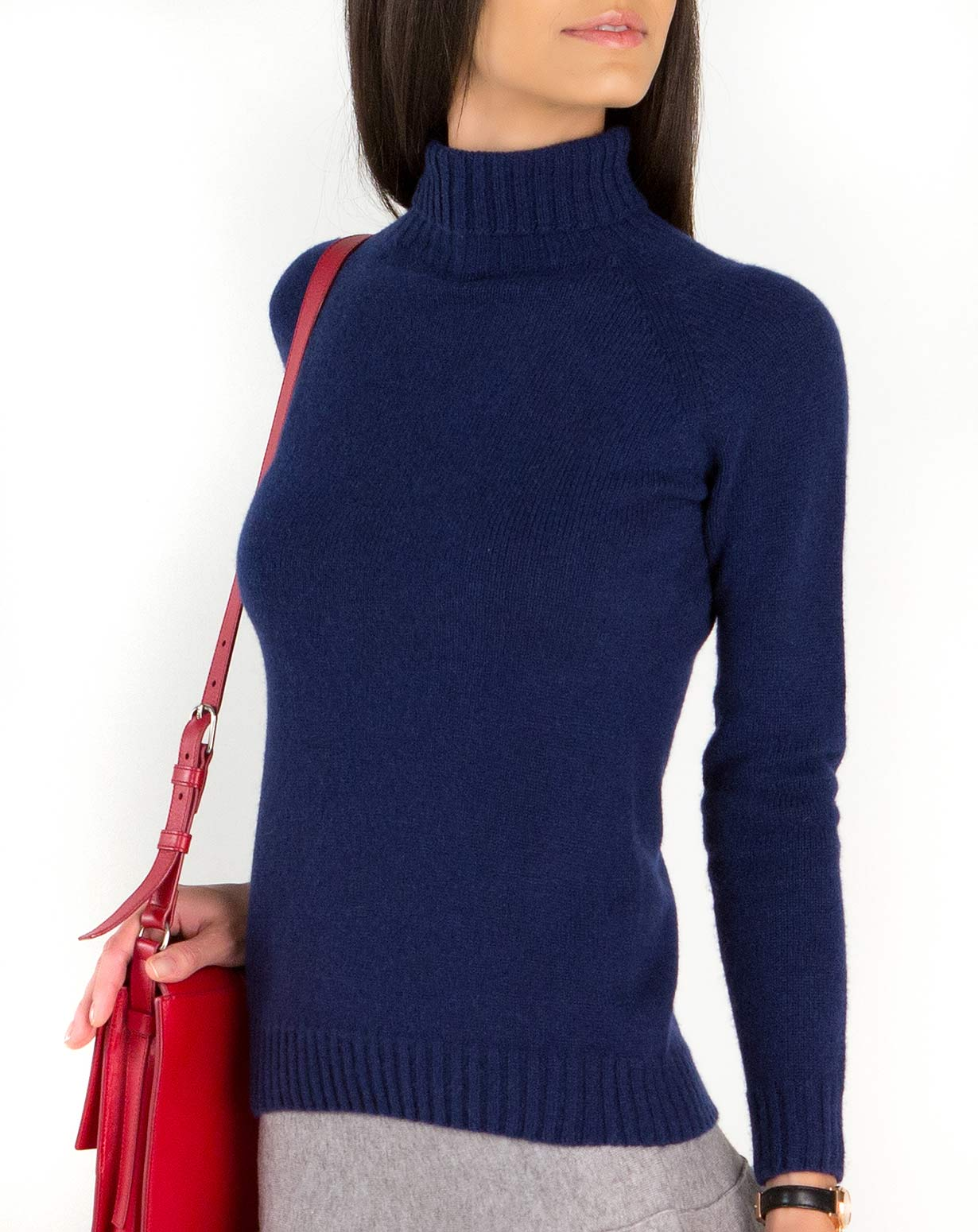 71100982b686 Ladies  Pure Cashmere Polo Neck Jumper