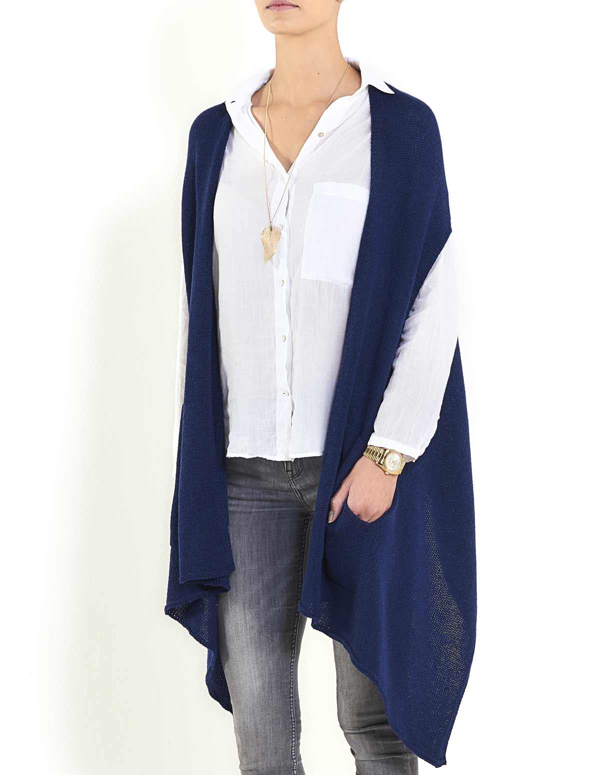 Women's Pure Cashmere Scarf Vest | MaisonCashmere
