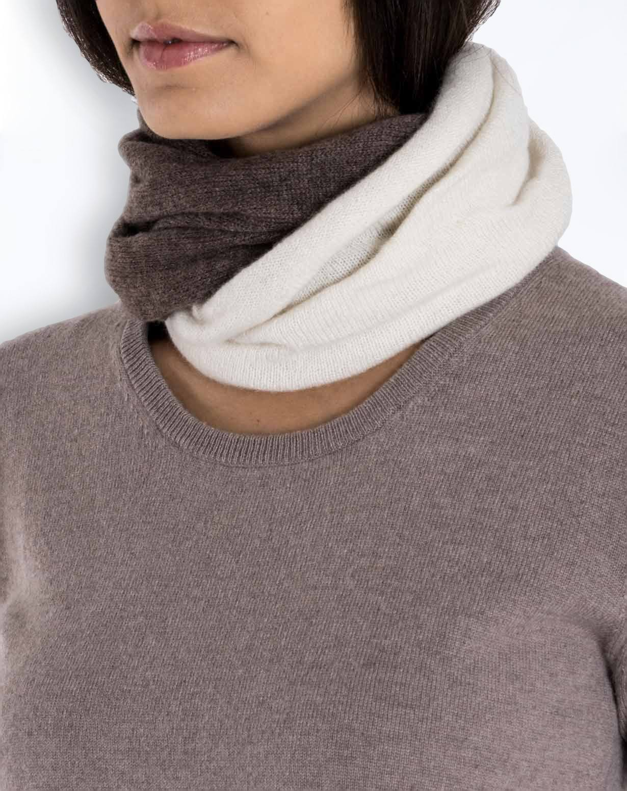 Women's Pure Cashmere Twist Collar Scarf