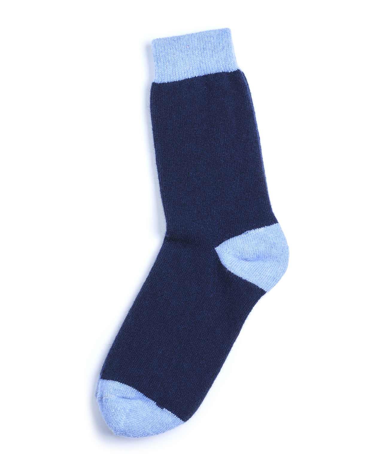 Calza Cashmere Tempo Libero - Blu