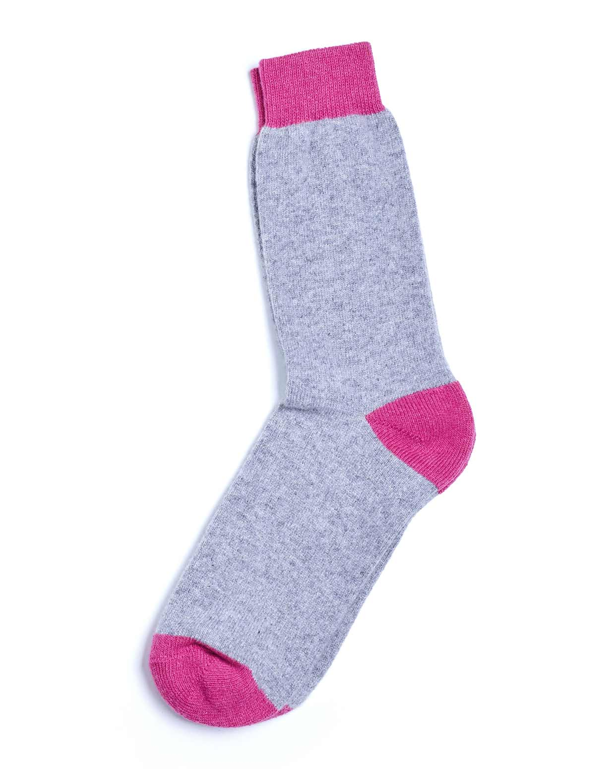 Unisex Cashmere Chunky Socks - Grey