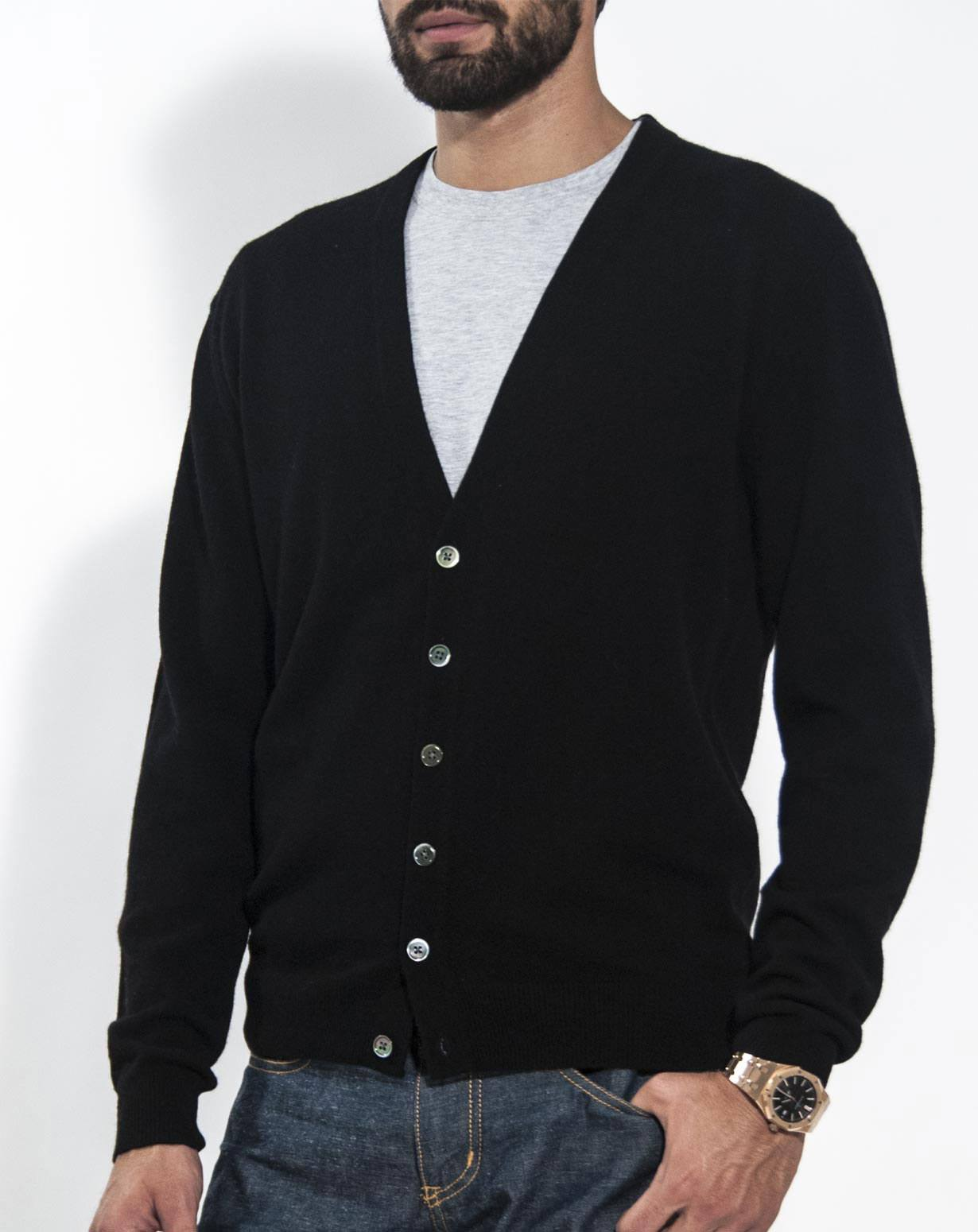 Men's Pure Cashmere Cardigan Jumper