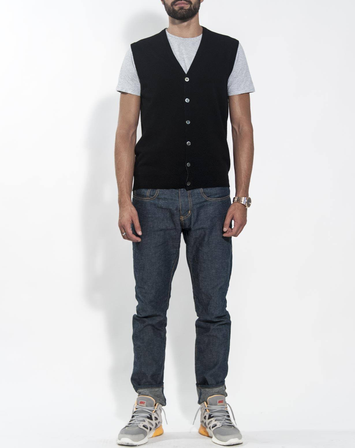 Men's Cashmere Sleeveless Cardigan | MaisonCashmere