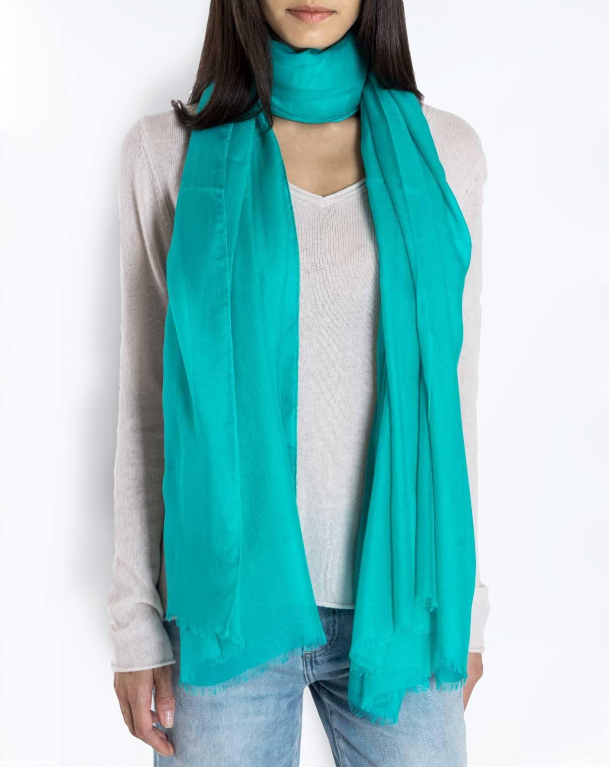 Cashmere Blend Pashmina - Turquoise