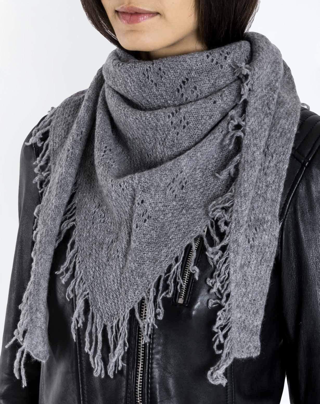 Pointelle Schal aus 100% Cashmere