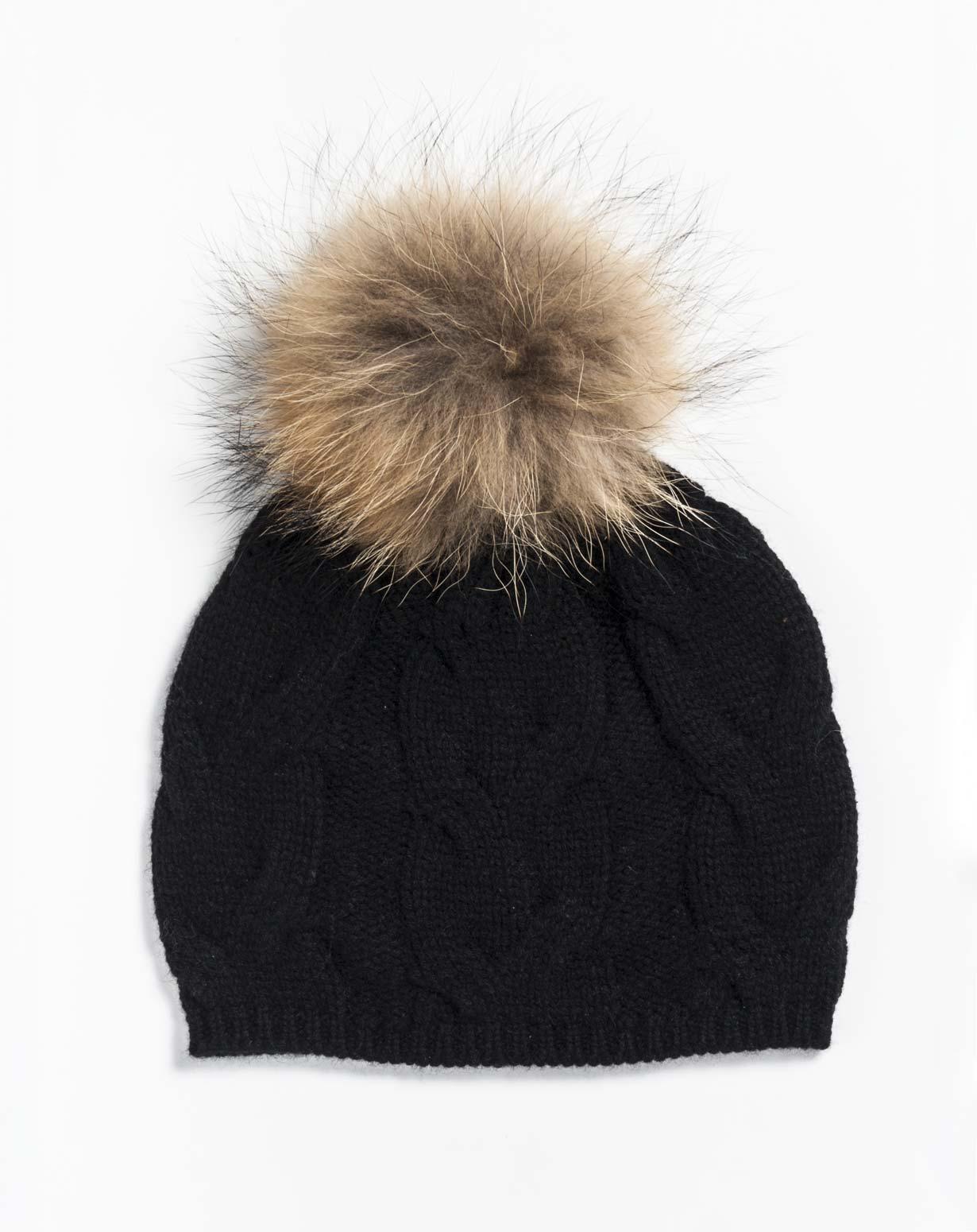 Cappello Pon Pon in Puro Cashmere ab58864dfde5