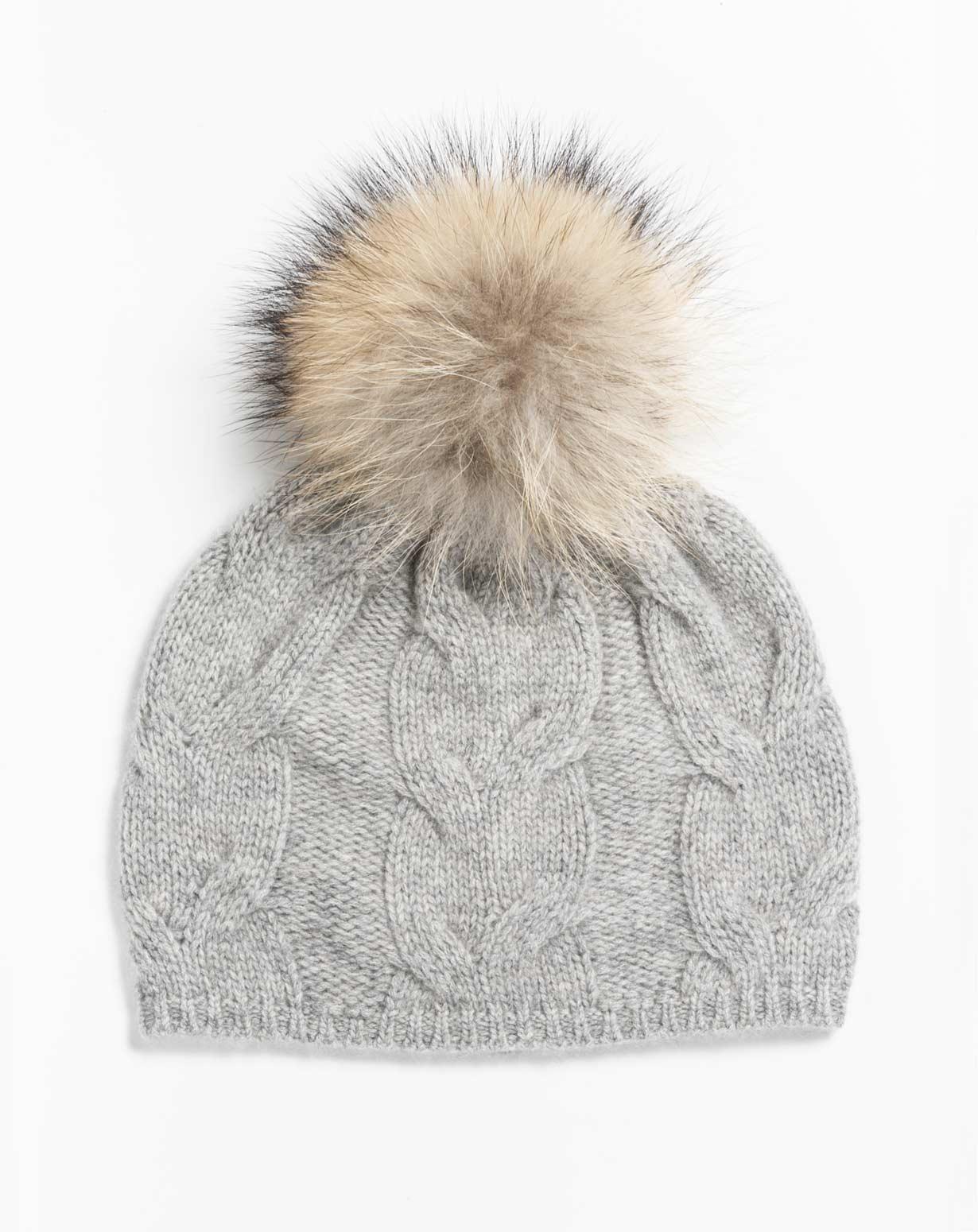 Cappello Pon Pon in Puro Cashmere d3d3f6f9224a
