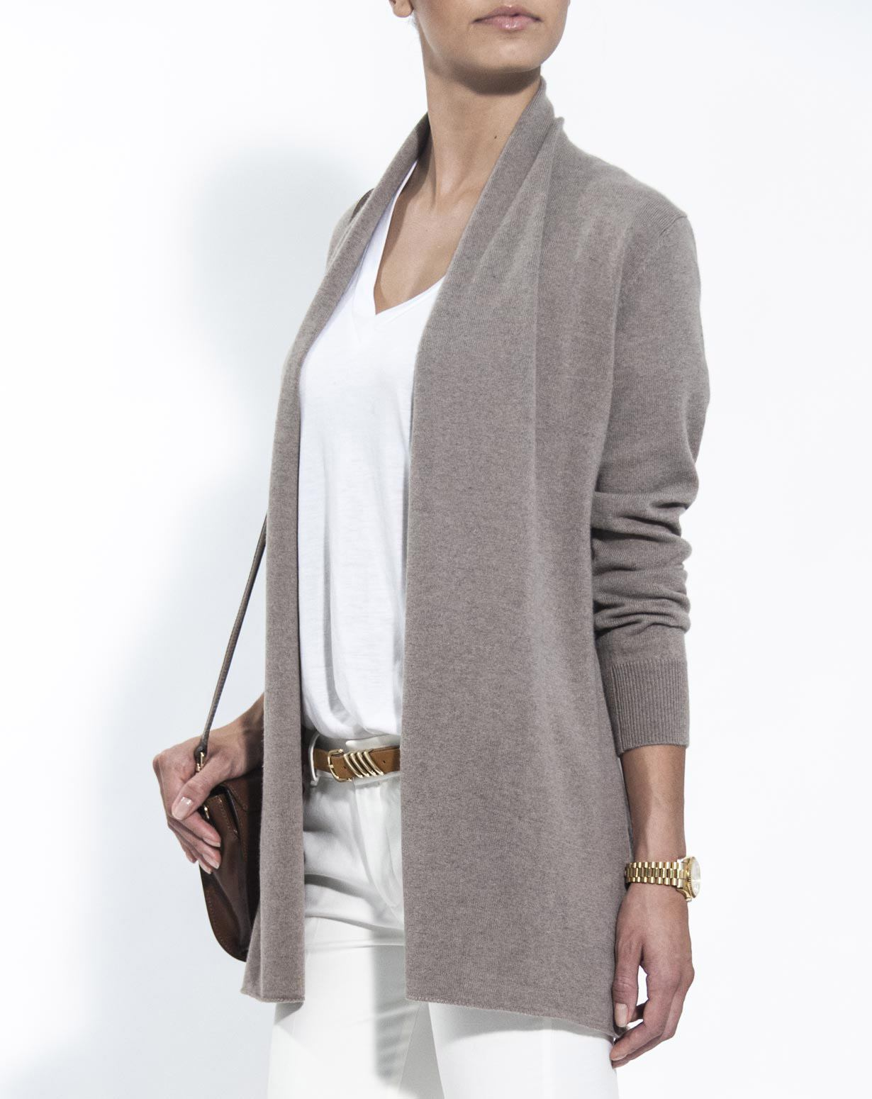 Ladies' Pure Open Front Cardigan