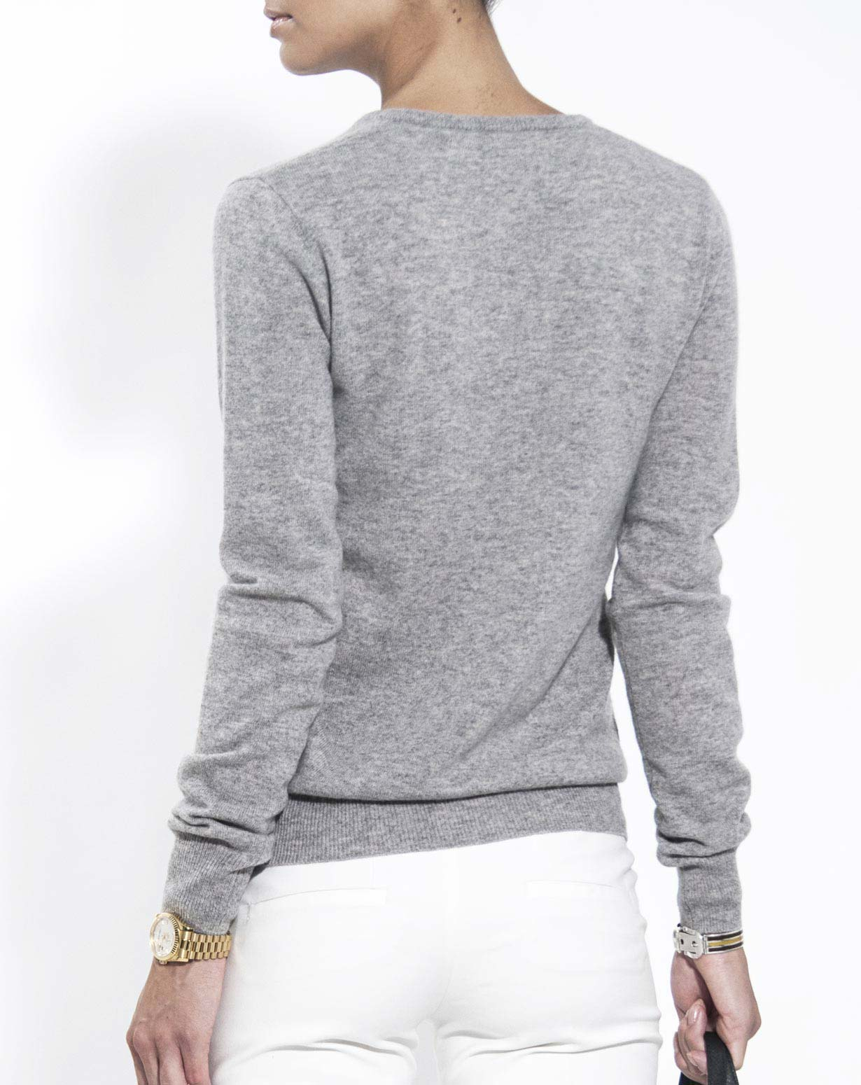 Ladies Pure Cashmere V Neck Jumper | MaisonCashmere