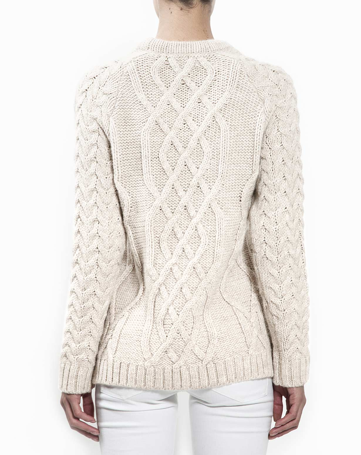 Women's Cable Knit Sweater | MaisonCashmere