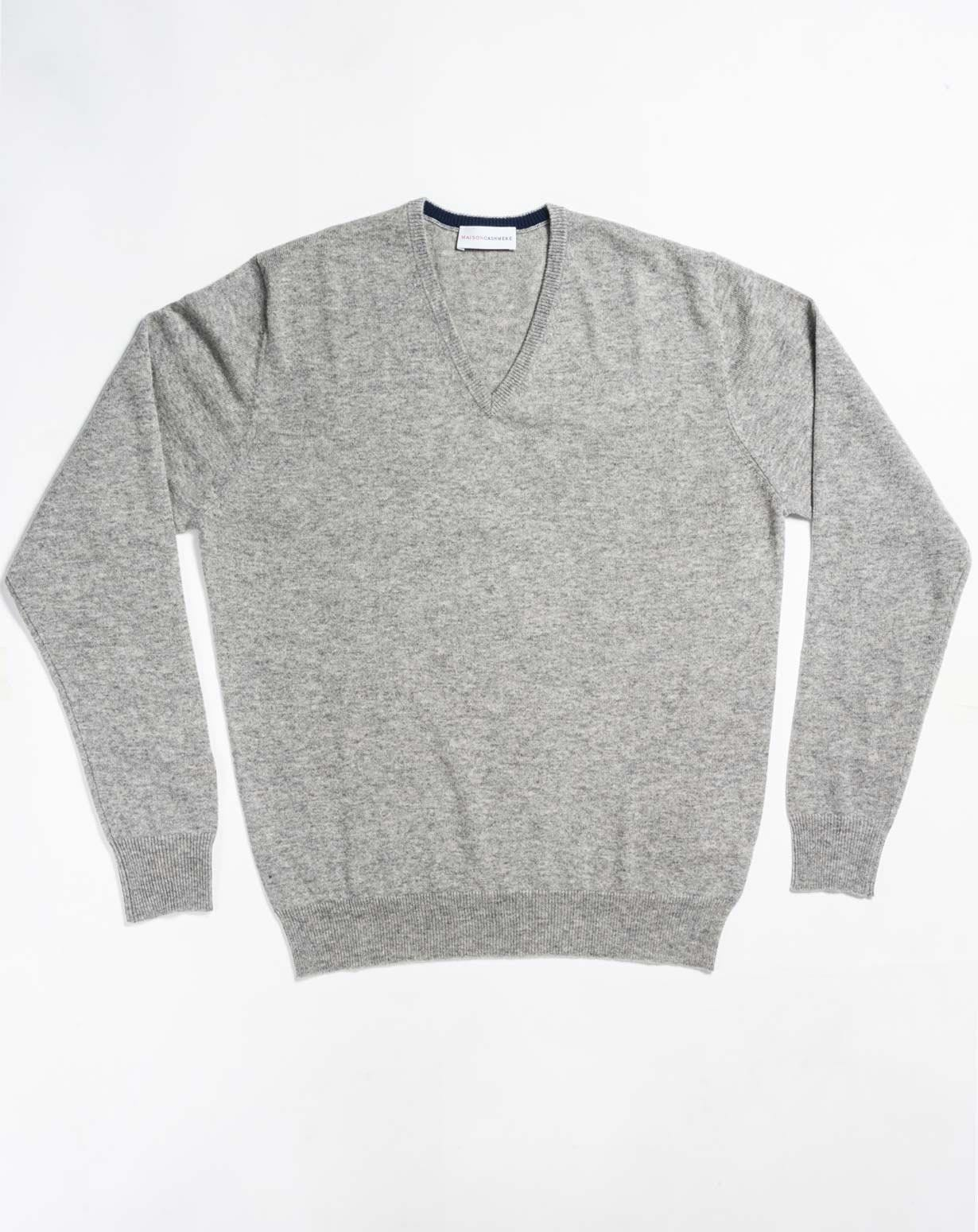 Men's Custom Knits - Cashmere V-Neck