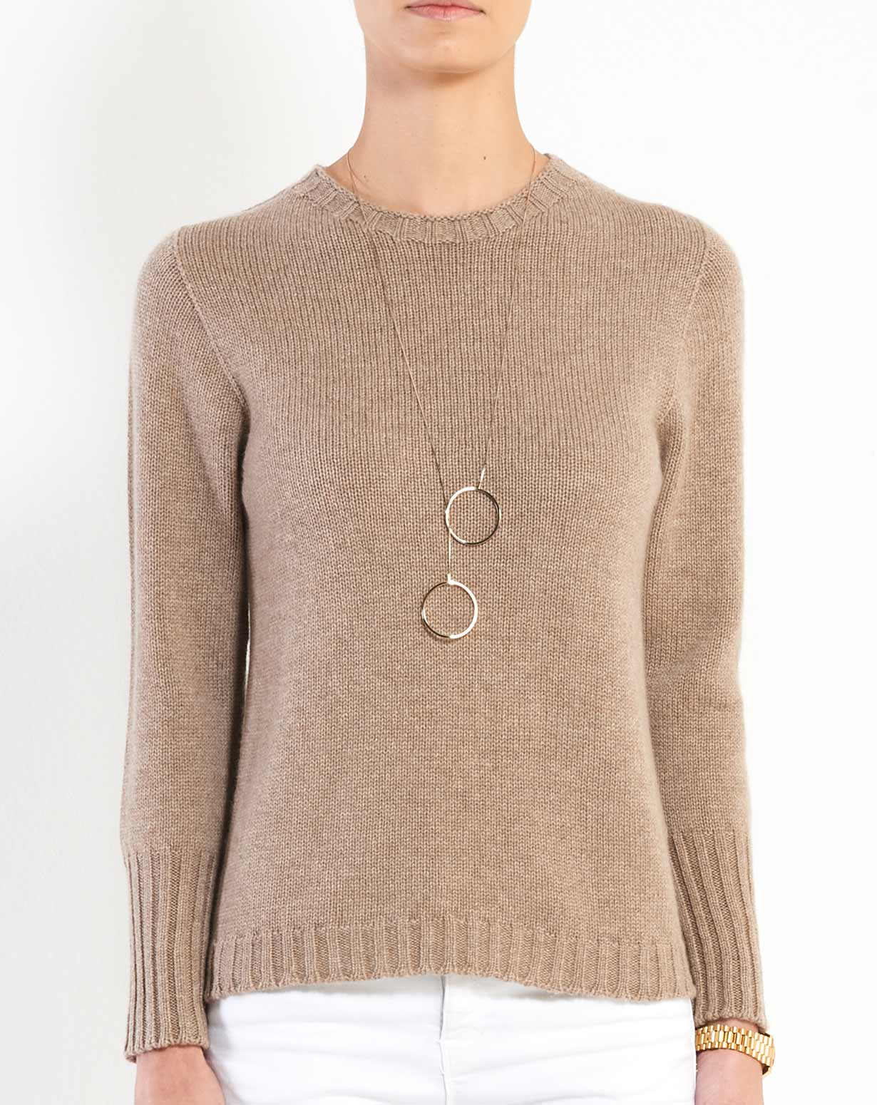 Women's Pure Cashmere Crew Neck Sweater