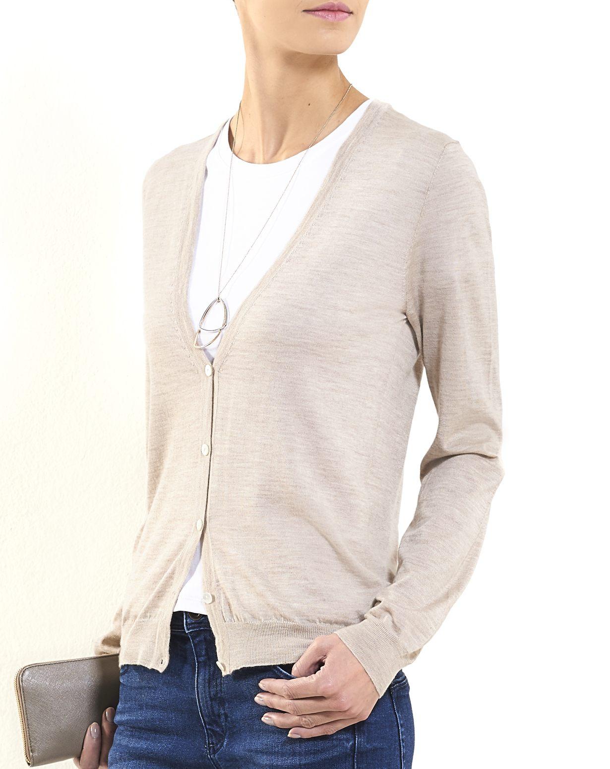 Ladies' Silk Cashmere V-Neck Cardigan