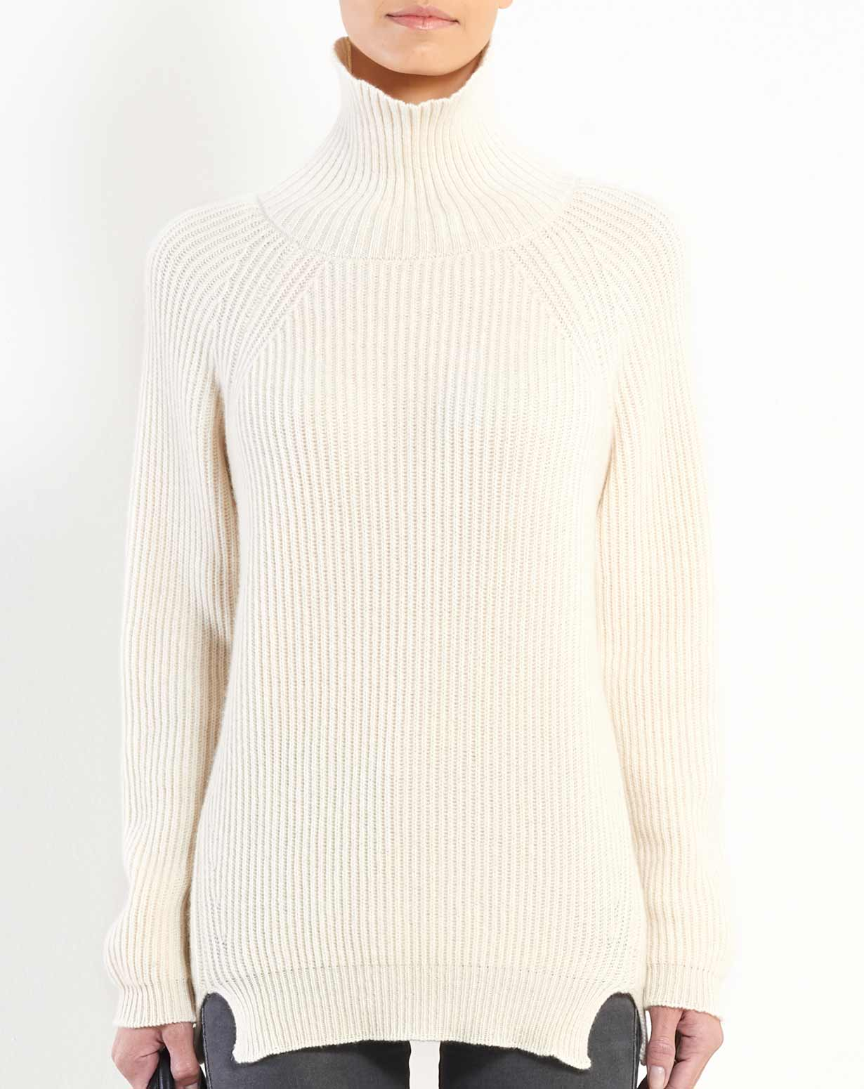 Women's Pure Cashmere Maxi Turtleneck
