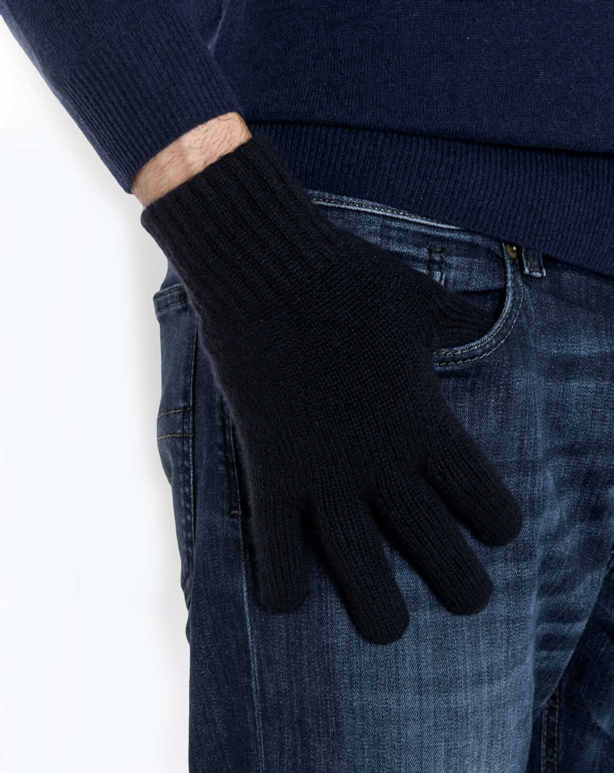Men's Pure Cashmere Knit Gloves