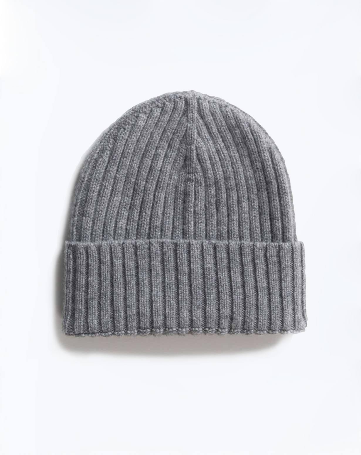 Cappello Lana a Coste in Puro Cashmere  12334c0970e8