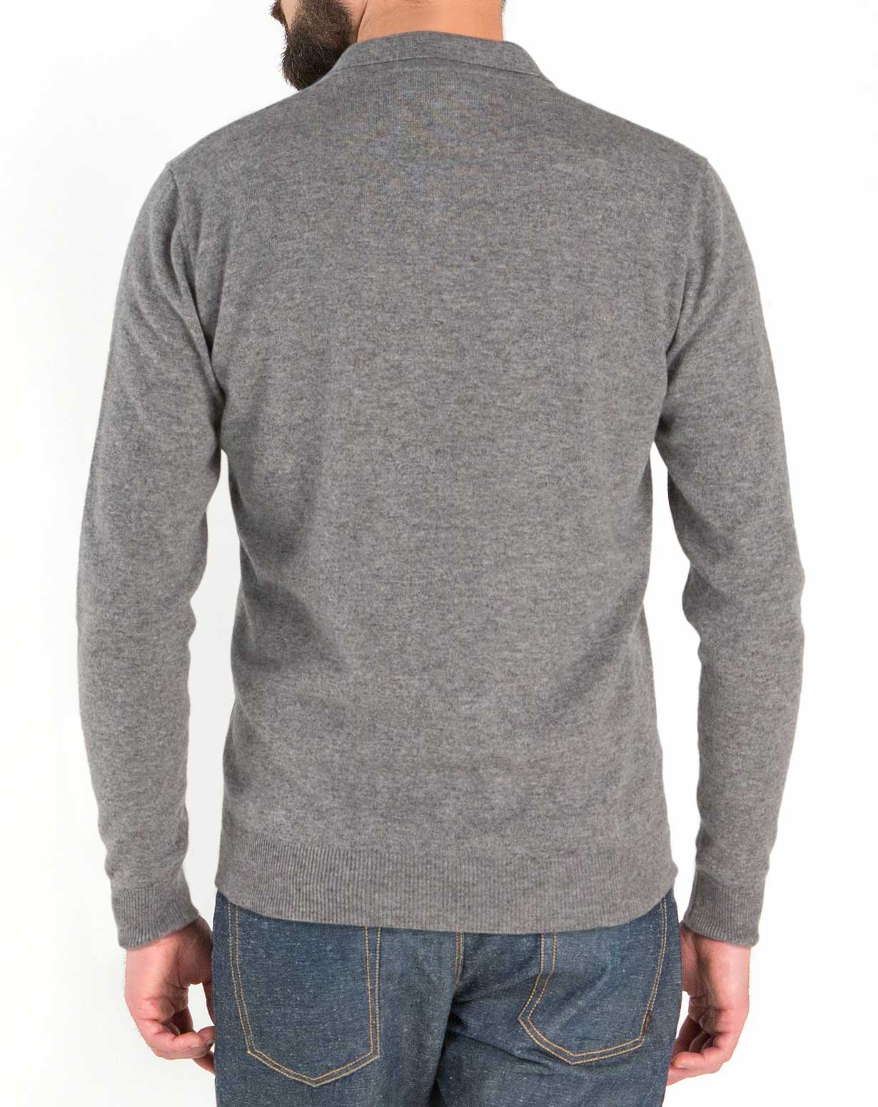 men 39 s pure cashmere polo shirt maisoncashmere