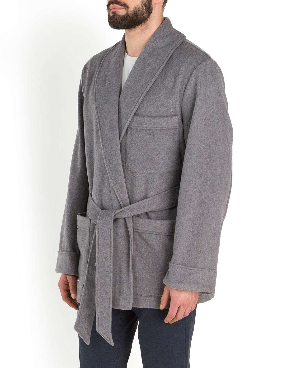 Men's Cashmere Felt Robe Jacket
