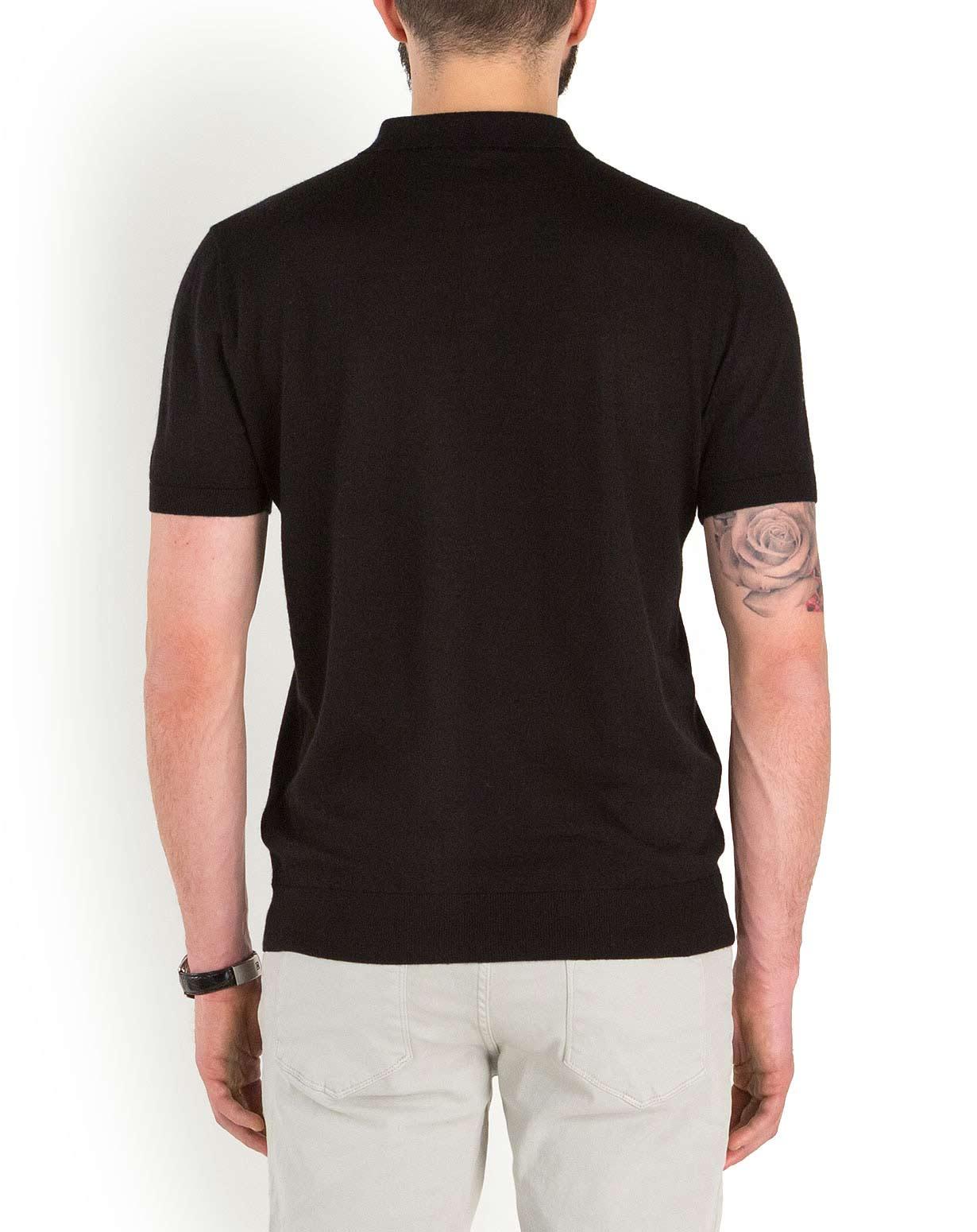 Men 39 S Silk Cashmere Short Sleeve Polo Shirt Maisoncashmere