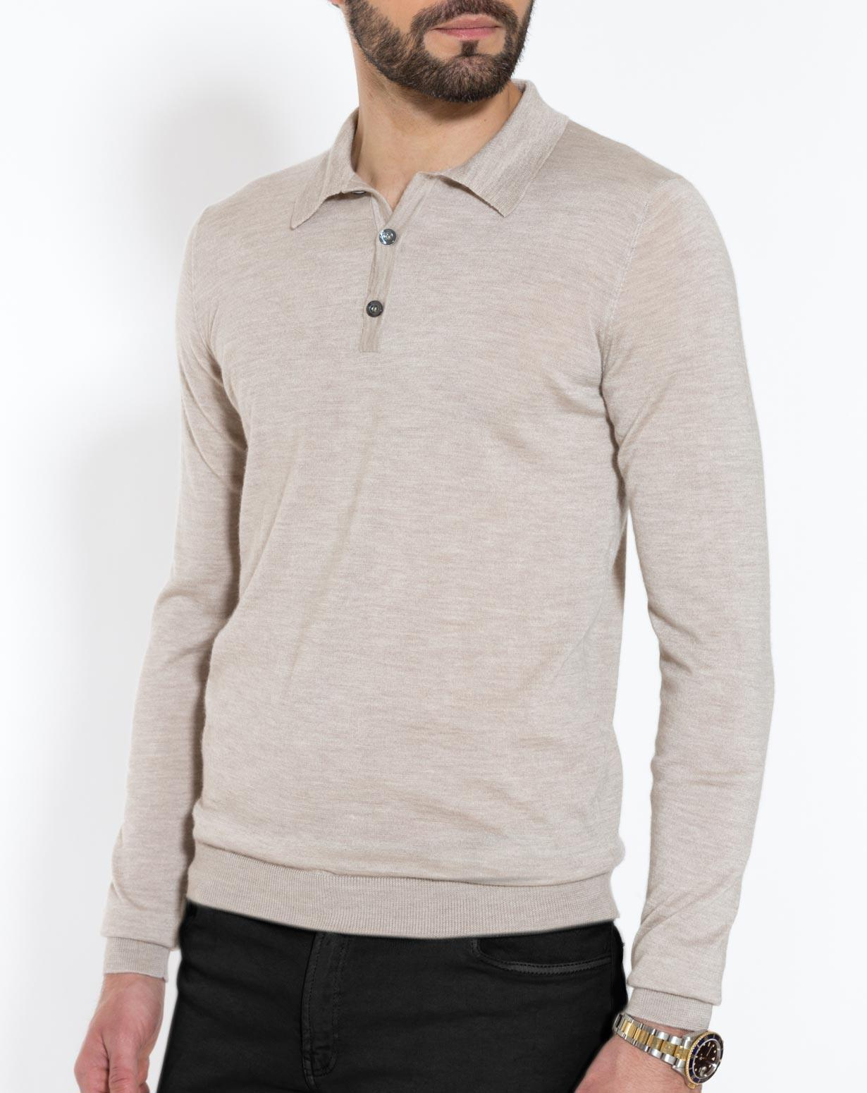 Men's Silk Cashmere Polo Shirt