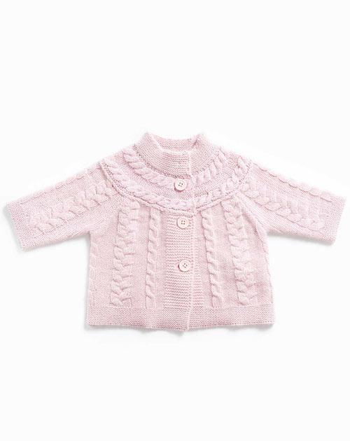 Baby's Pure Cashmere Cable Knit Cardigan