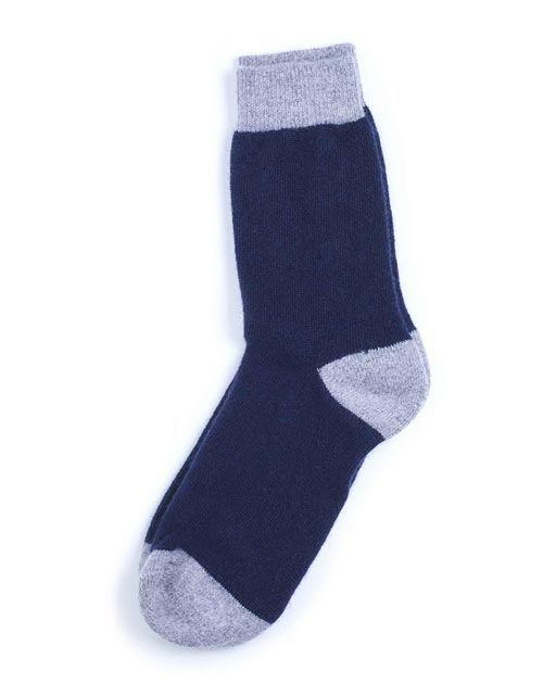Unisex Cashmere Chunky Socks - Blue