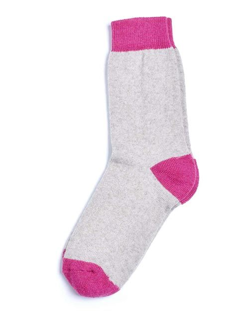 Unisex Cashmere Chunky Socks - Beige