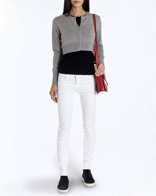 Ladies' Pure Cashmere Cropped Cardigan