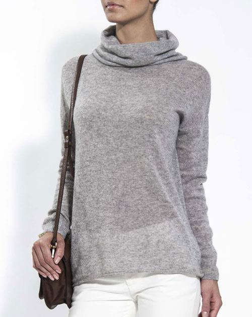 Women's Oversized Cashmere Cowl Neck Sweater
