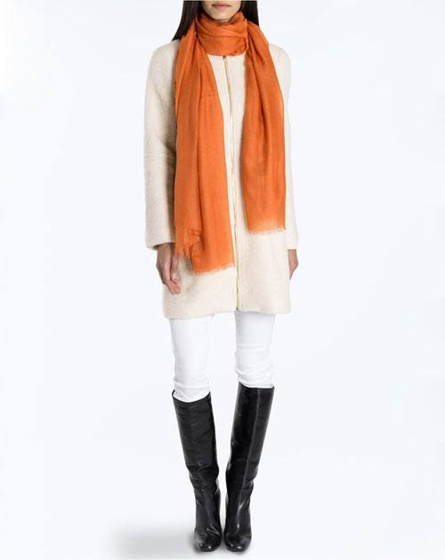Cashmere Blend Pashmina - Orange