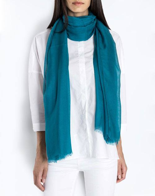 Cashmere Blend Pashmina - Sea Green