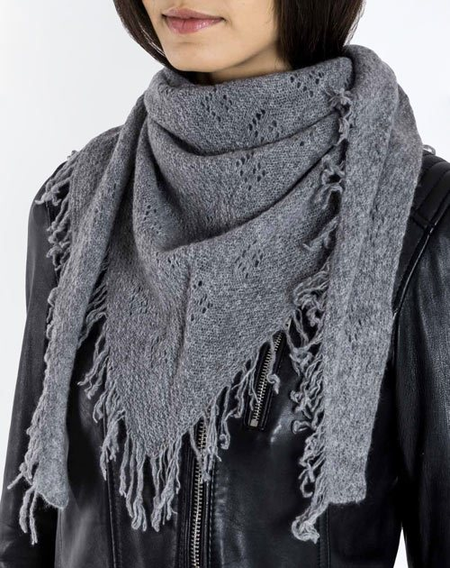Ladies' Pure Cashmere Pointelle Scarf