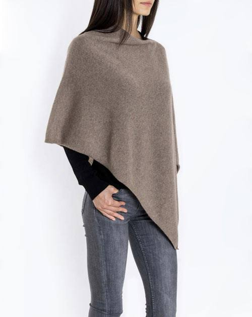Ladies' Essential Pure Cashmere Poncho
