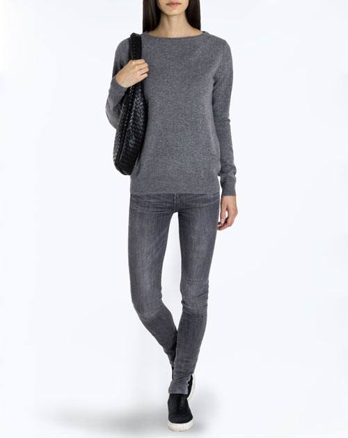 Women's Pure Cashmere Boat Neck Sweater