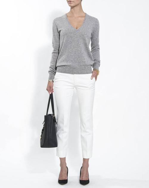 Women's Pure Cashmere V-Neck Sweater