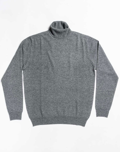 Men's Custom Knits - Cashmere Polo Neck