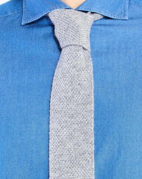 Cravatta in Maglia Puro Cashmere