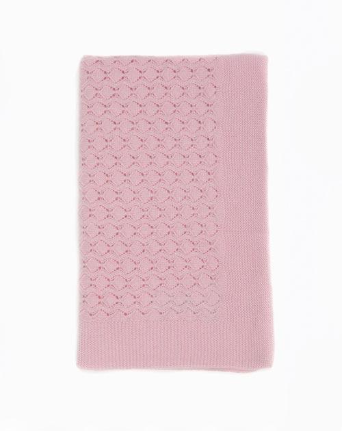 Copertina Cashmere Neonato Punto Crochet
