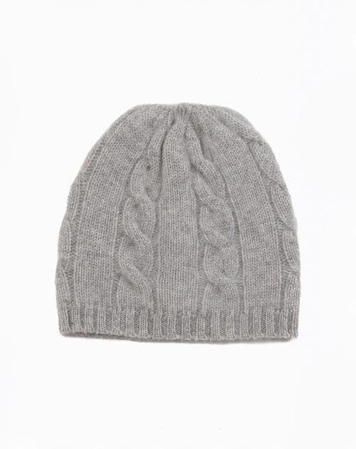 Cappellino Puro Cashmere Trecce