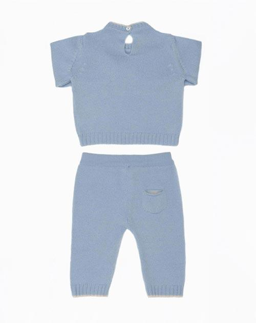 Cashmere Baby Boy Crew Neck & Pants