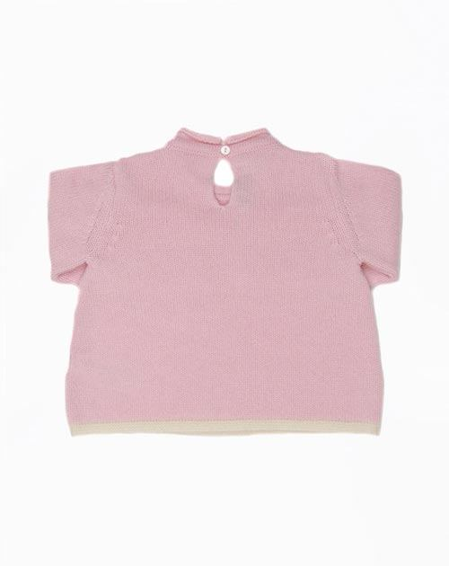Cashmere Baby Girl Crew Neck Jumper