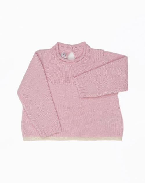 Cashmere Baby Girl Crew Neck Sweater