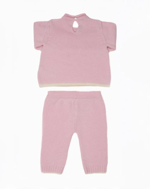 Cashmere Baby Girl Crew Neck & Pants