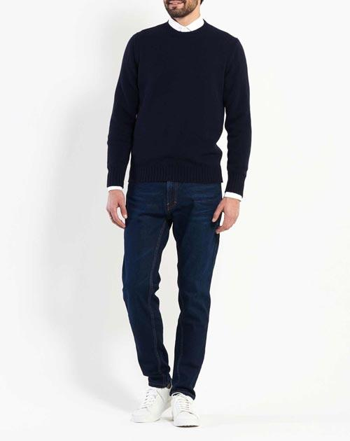Men's Thick Knit Cashmere Crew Neck