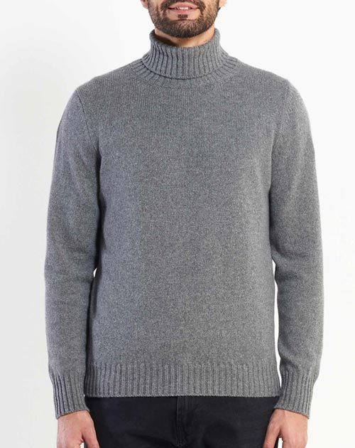 Men's Thick Knit Cashmere Turtleneck