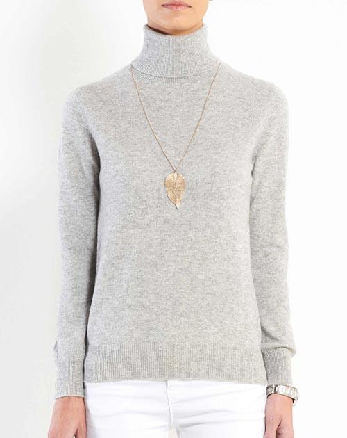 Ladies' Pure Cashmere Polo Neck Jumper