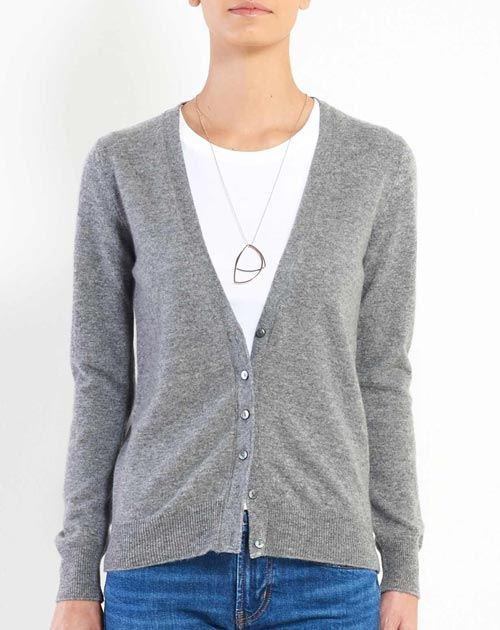 Women's Pure Cashmere V-Neck Cardigan